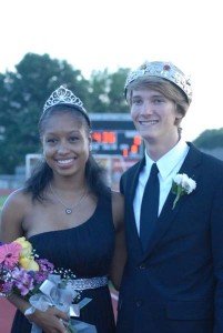 Queen Nia Madison and King Brock Hanson were crowned before the Homecoming football game.