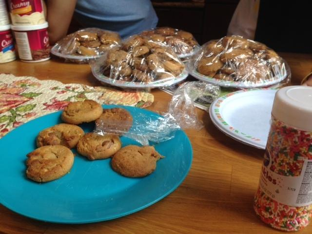 SMS Care Club baked and wrapped dozens of oatmeal raisin and peanut butter cookies for Ronald McDonald House.