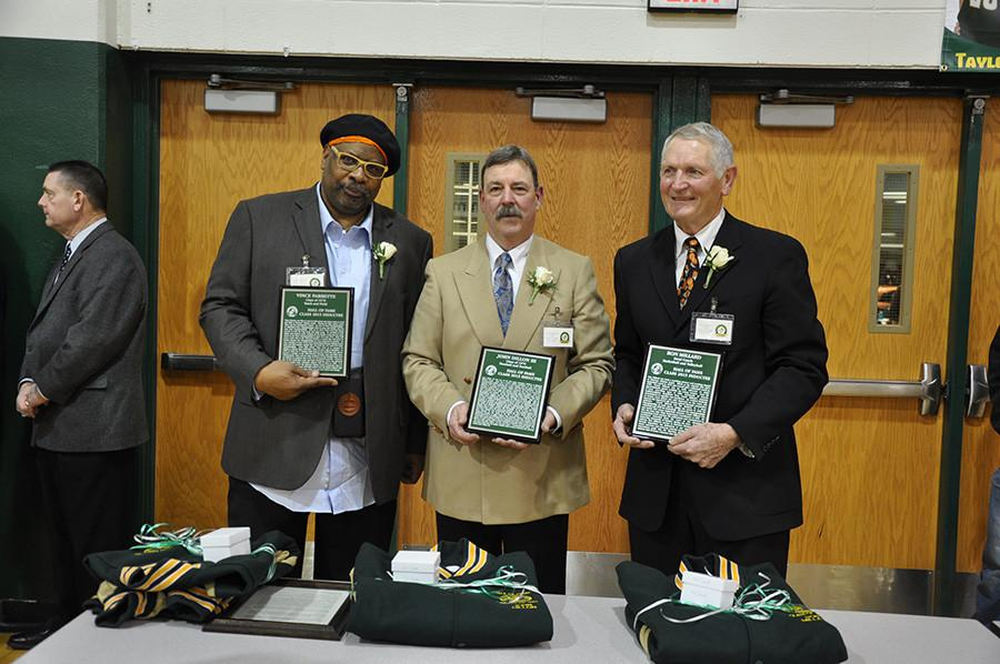 Two former athletes, Vince Parrette,  John Dillon III,  and one coach, Ron Millard were inducted in to the hall of fame at the boys  basketball game Friday, Jan.30.