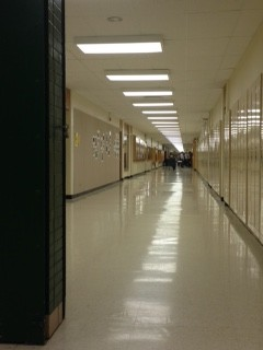The art hallway during first lunch
