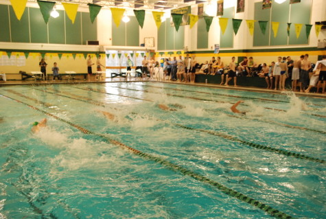 SMS pool size inadequate for larger meets. District looking for larger pool area in Lenexa aquatic center.