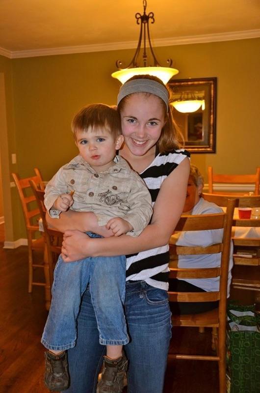 Faith Danaher with her little cousin.