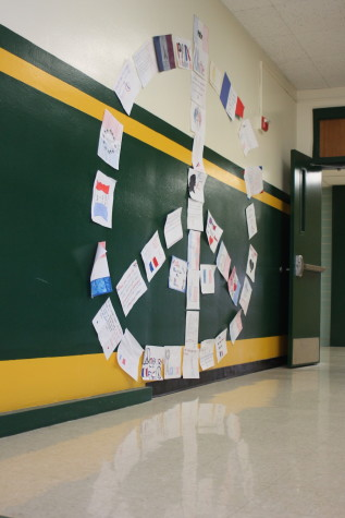 French Class Hangs Support for Paris