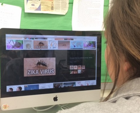 A student is researching the Zika virus.
