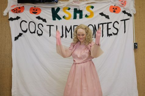 Julie Cunningham won first place in the individual costume contest