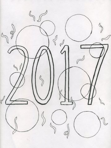 2017 New Years' Coloring Page