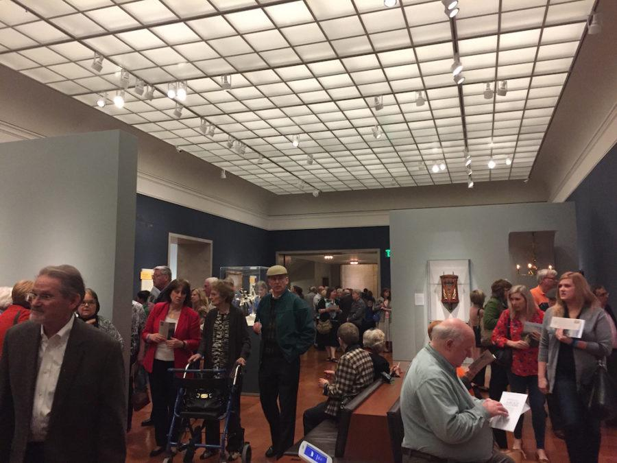 Museum members get a first look at the new Bloch Galleries.