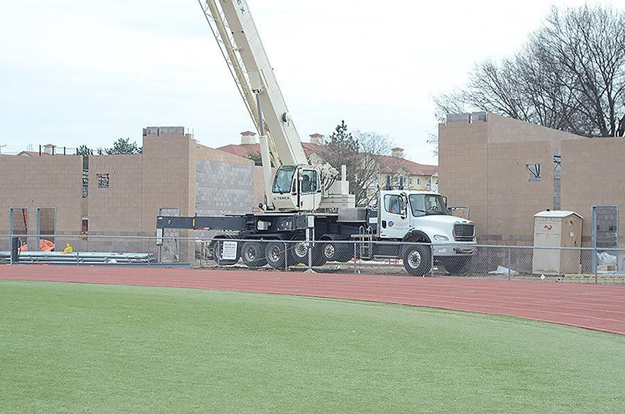Work on a $6.7 million renovation of the SMS stadium is being completed by JE Dunn construction. One of the main changes is building a new concession and bathroom area.