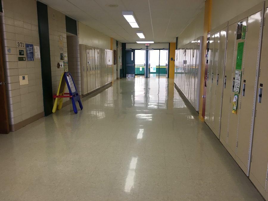 The upper floor halls seem quiet.