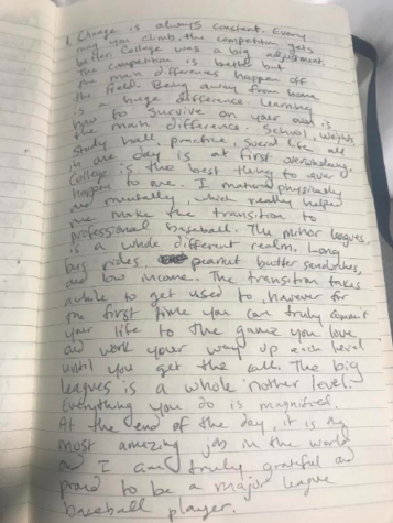 Raider alum Mike Morin's handwritten interview