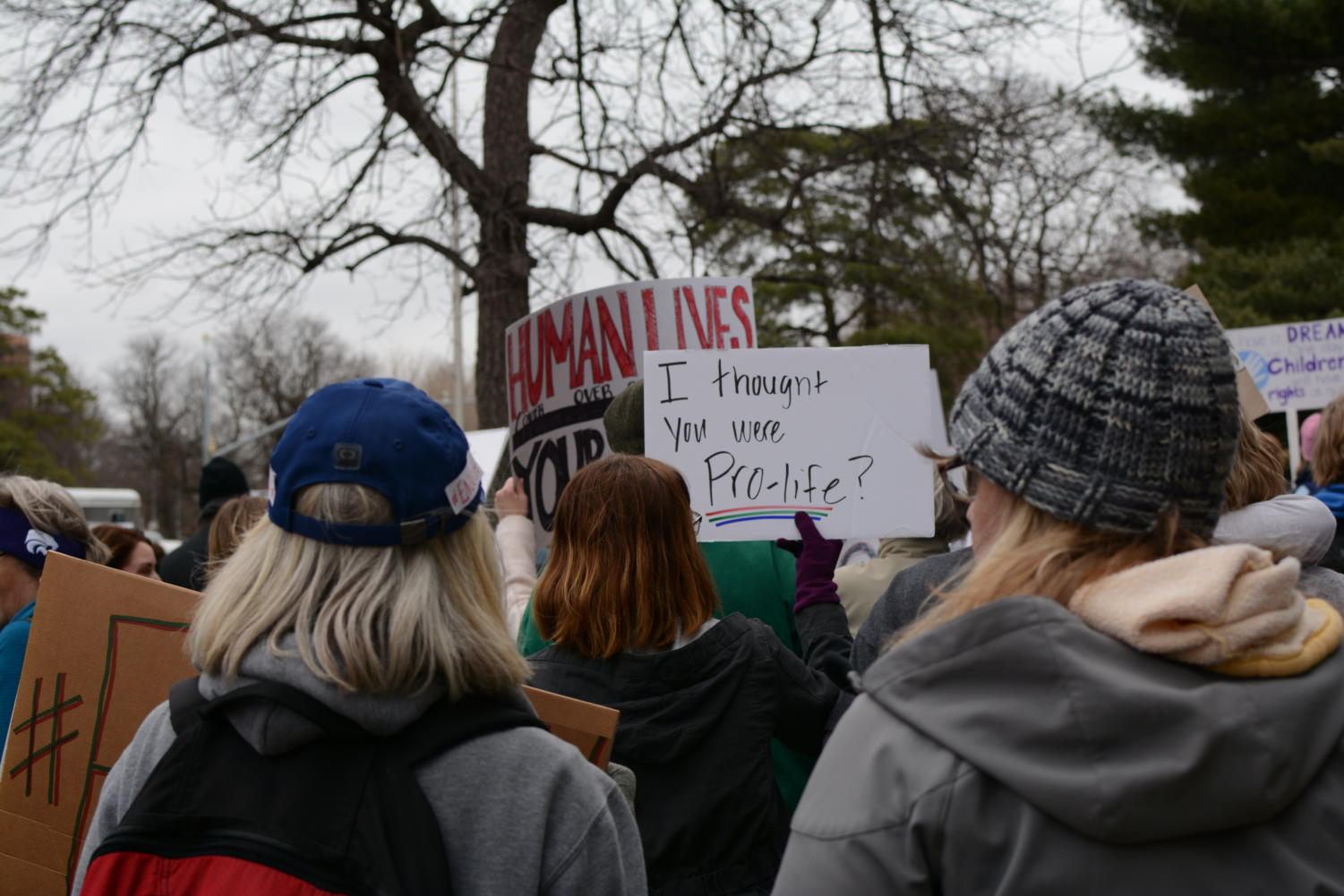 A+sign+reads+%22I+thought+you+were+pro-life%3F%22