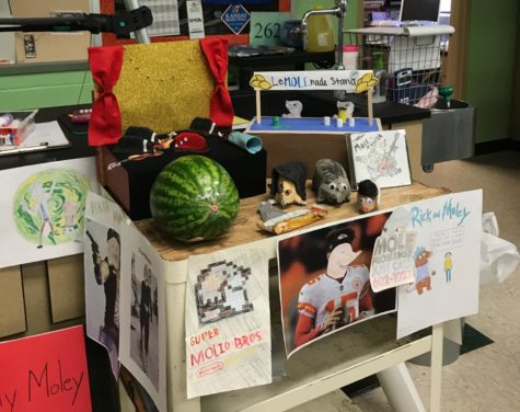 With moles in mind, Allie Long's chemistry students made projects for Mole Day.