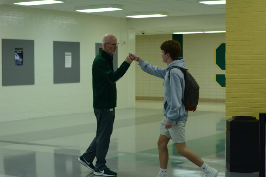 Fist Bump Friday! Every Friday, Mr. Bogart gives a South student a fist bump.