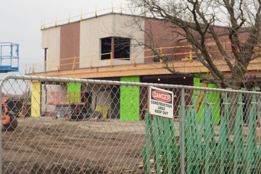 Construction going on at SMS still.