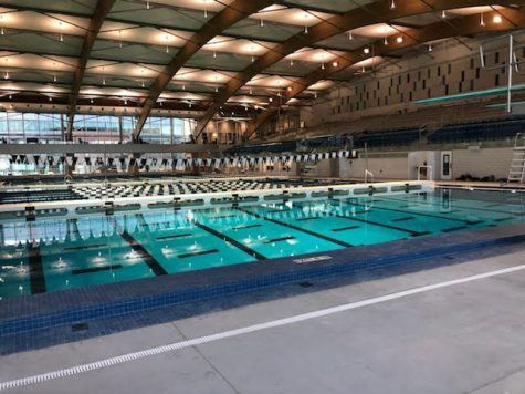 New aquatic center opens. First meets have already been held at new facility.